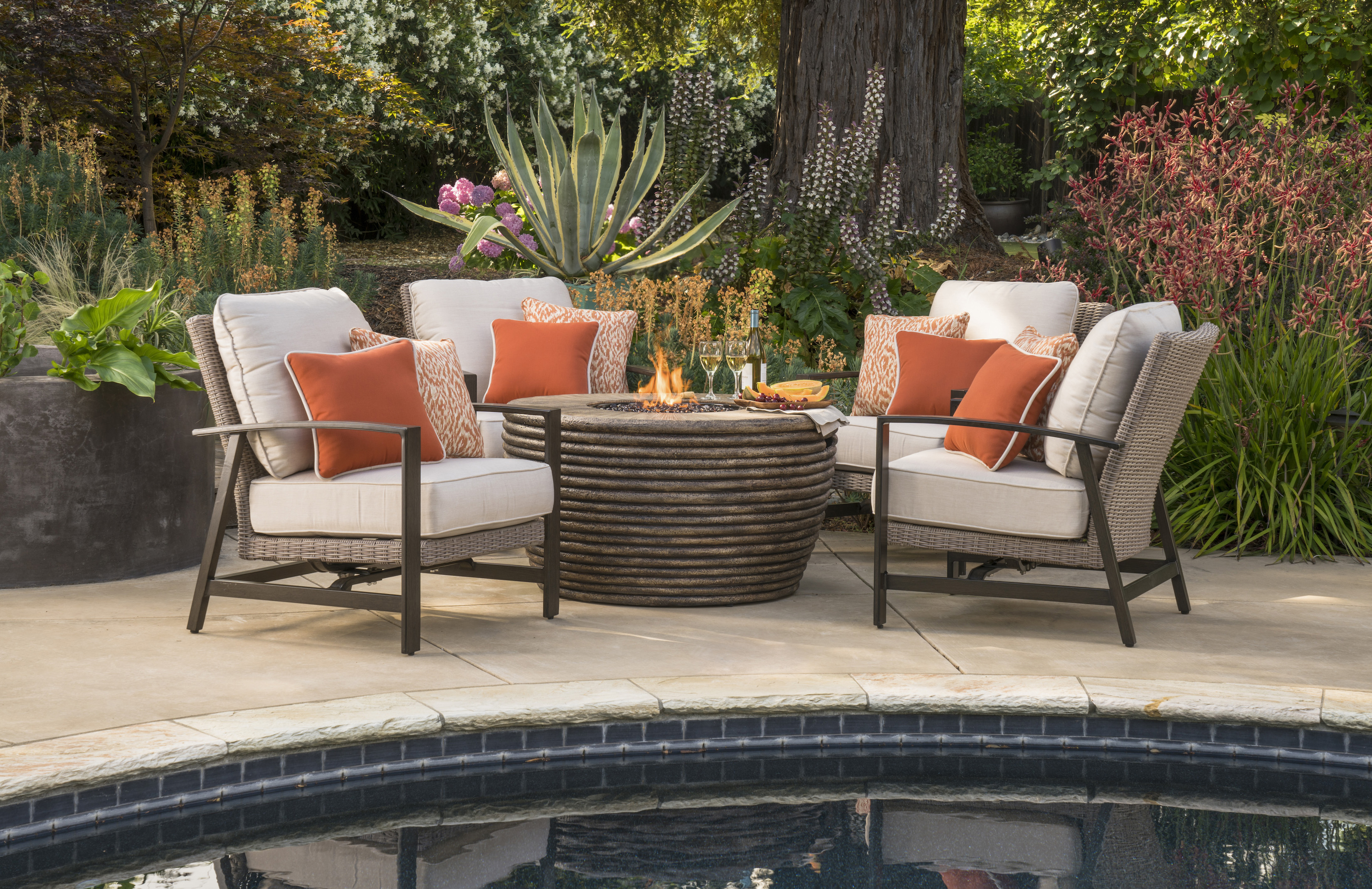 Spring ahead with gray furniture, purple flowers and other outdoor trends
