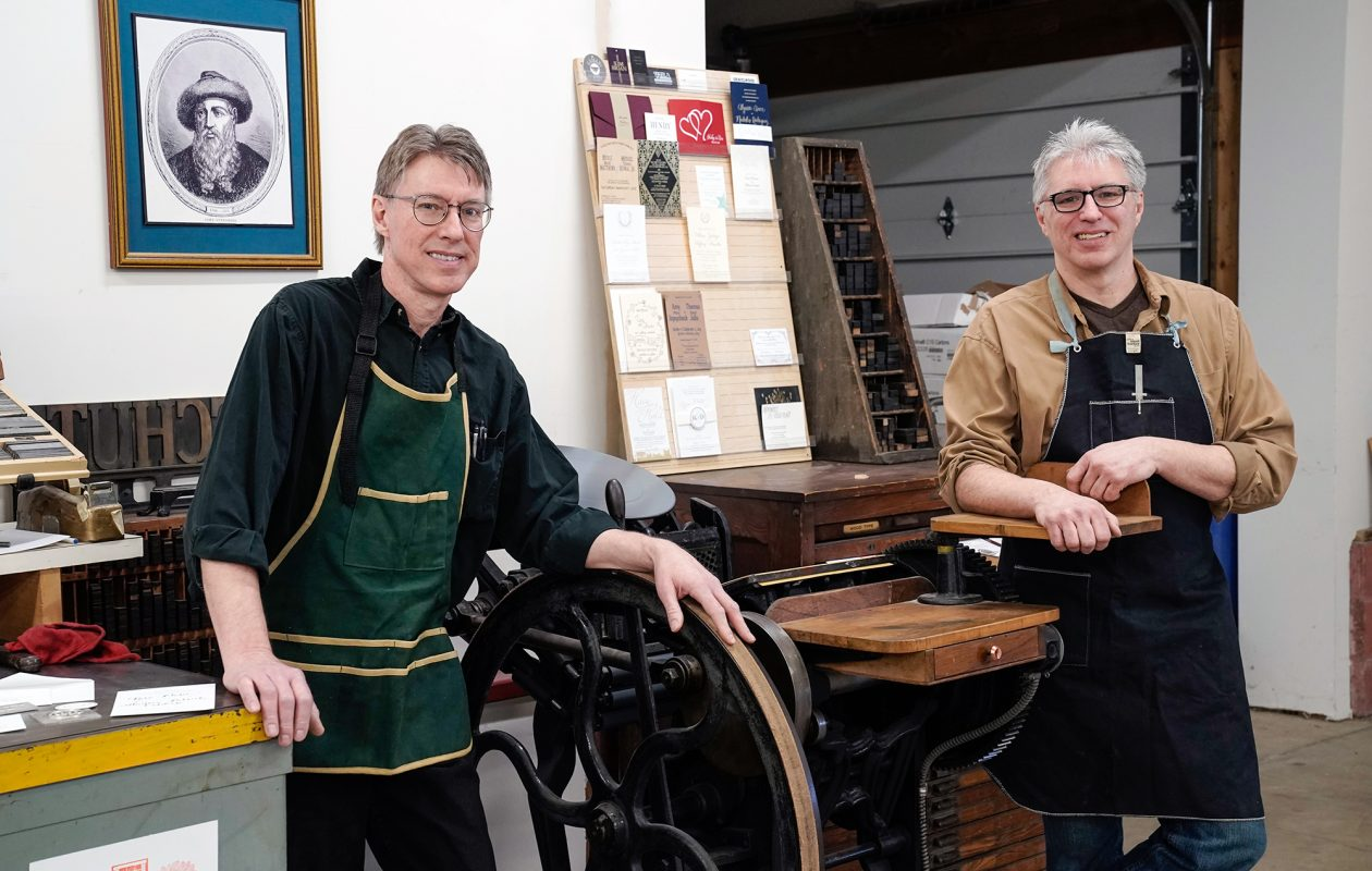 Brothers DJ and Matt Schutt created their letterpress shop as a side project four years ago. (Dave Jarosz)