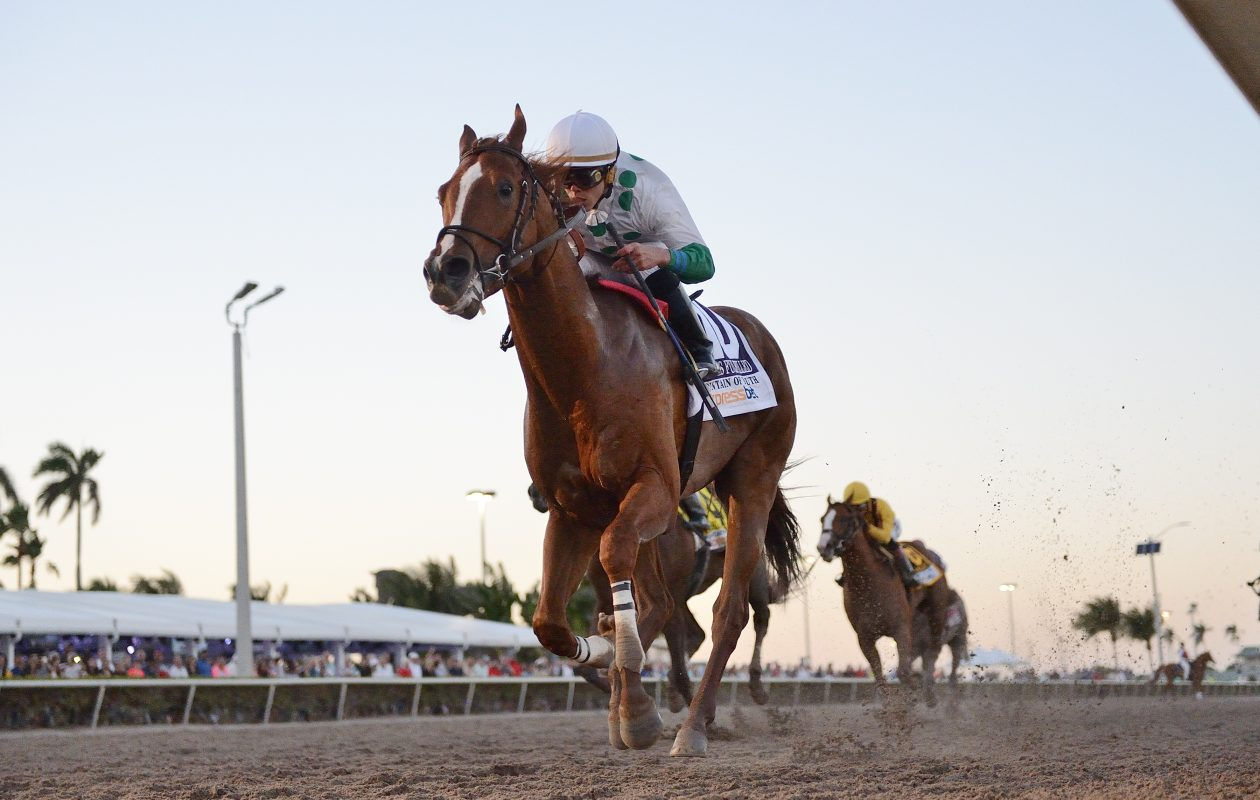 Promises Fulfilled comes into the Florida Derby off a win in the Fountain of Youth. Photo Credit: Gulfstream Park