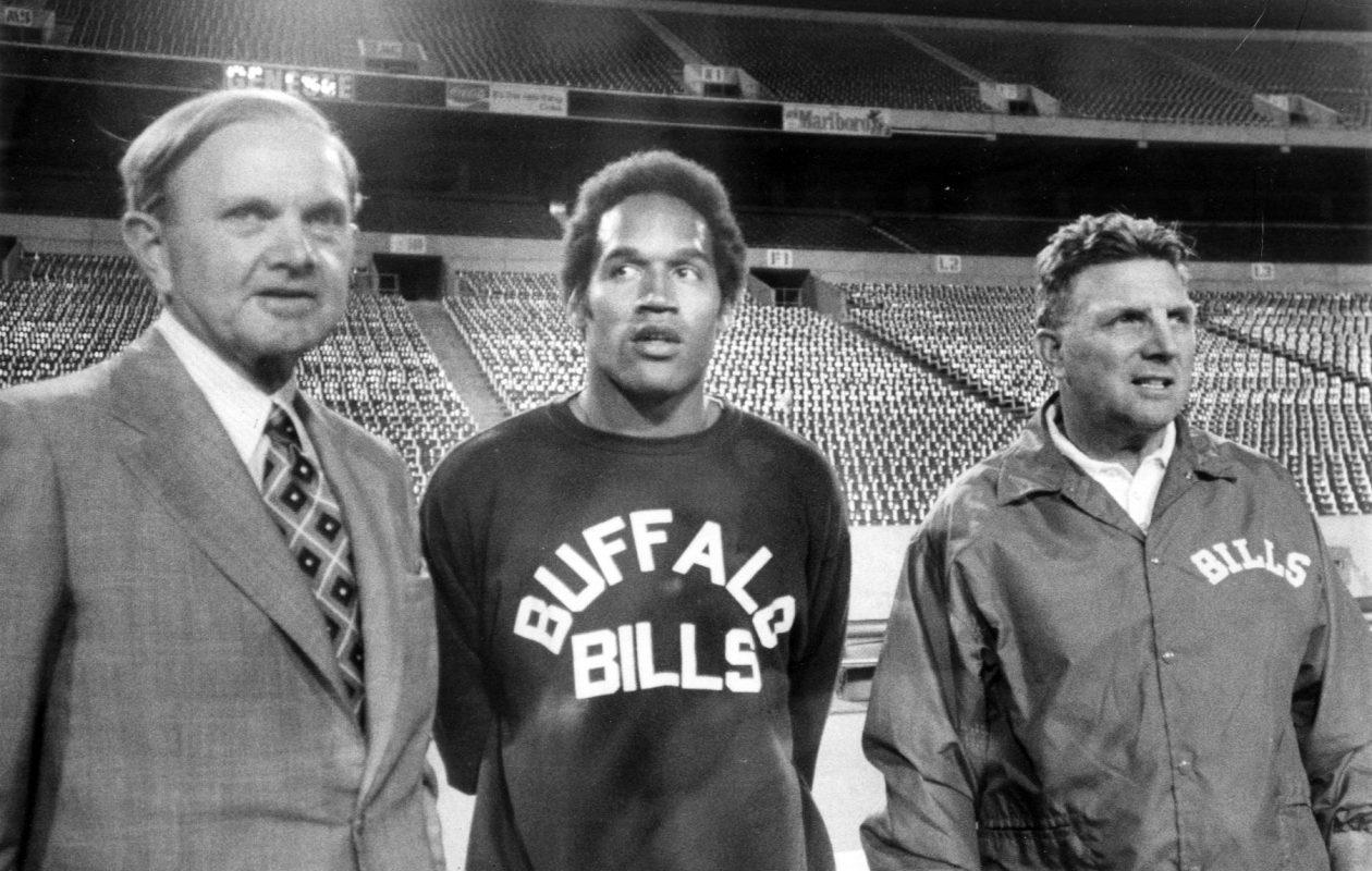 Ralph Wilson, OJ Simpson and Lou Saban (Buffalo News file photo)