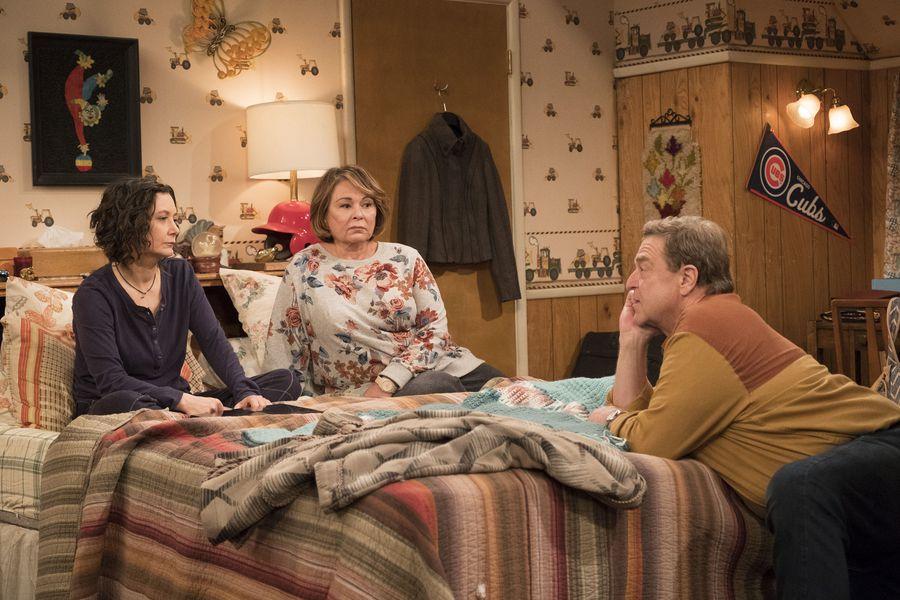 Sara Gilbert, left, Roseanne Barr and John Goodman all return in 'Roseanne.' (ABC/Adam Rose)