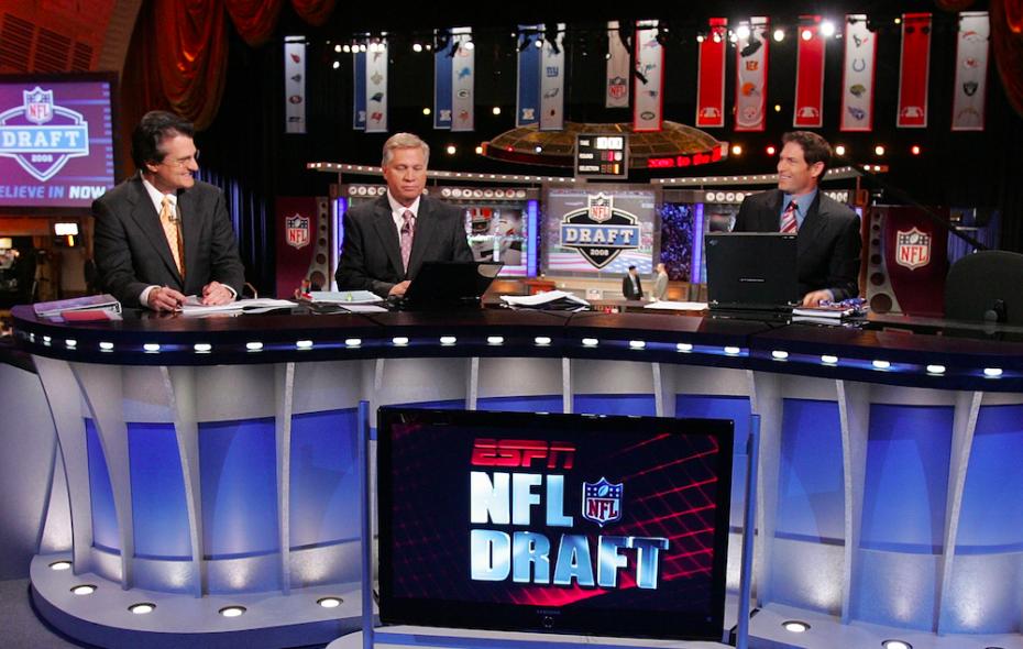 ESPN's Mel Kiper, left, still doesn't project the Bills to draft a quarterback (Getty Images)