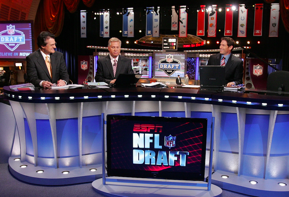 ESPN's Mel Kiper, left, still doesn't project the Bills to draft a quarterback (Getty Images)