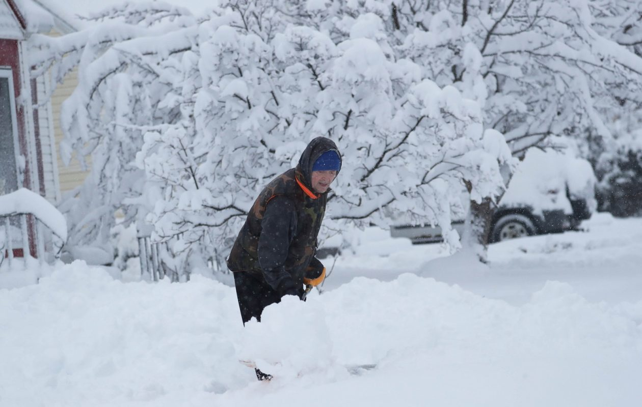 Shoveling snow will be an ubiquitous endeavor around the Buffalo Niagara region this weekend. Weather service forecasts suggest a 'major winter storm' is growing increasingly likely. (Sharon Cantillon/Buffalo News file photo)