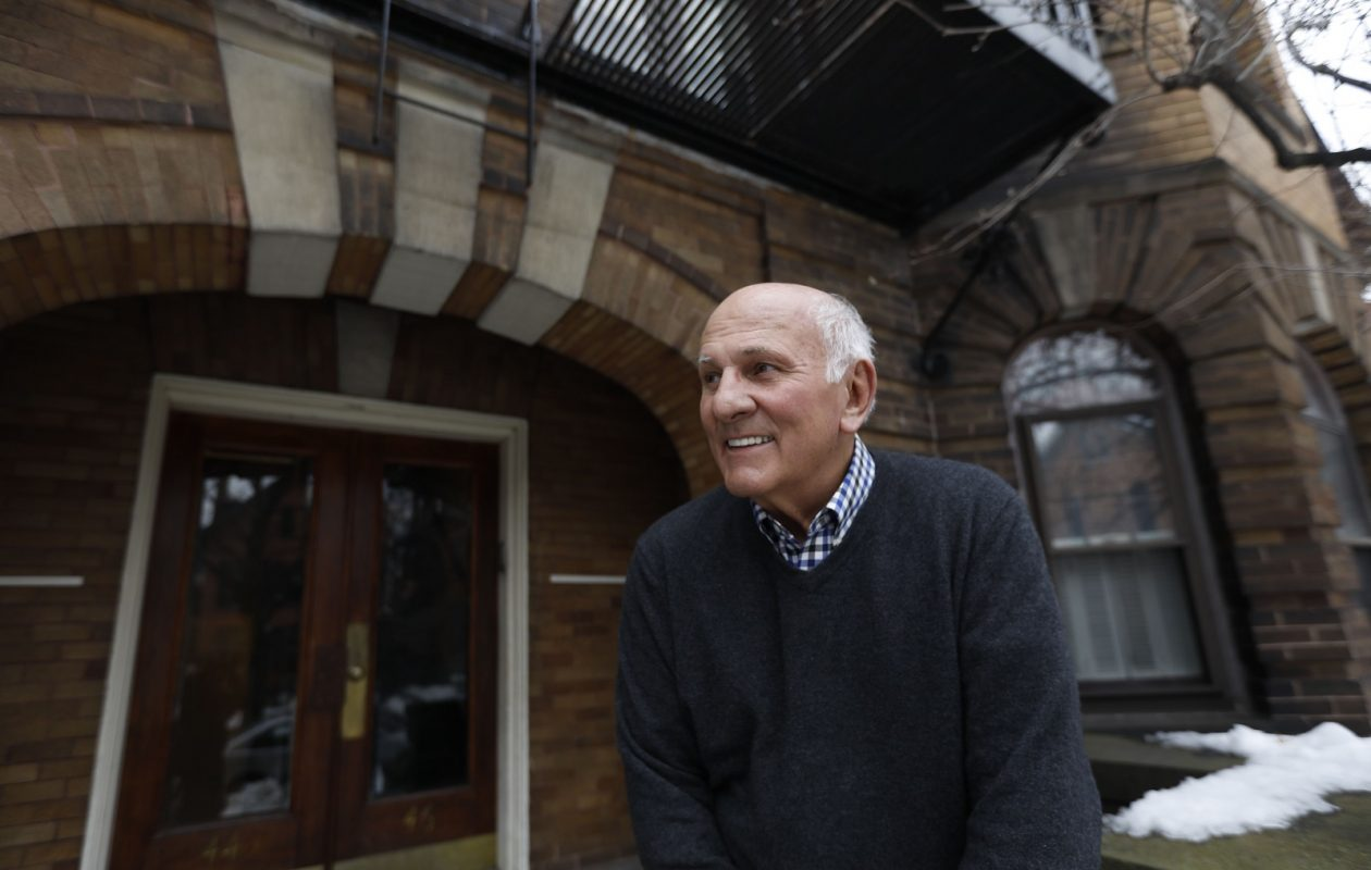 Don Gilbert, owner of the apartment building at 44 N. Pearl St. in Allentown which was built in 1905.  He calls the building the 'Think Tank' because of all the doctors and professionals who have lived there through the years. (Derek Gee/Buffalo News)