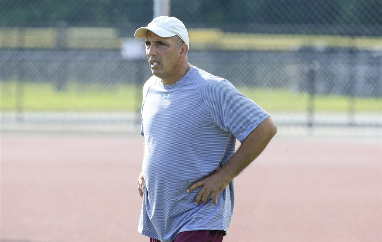 Gene Tundo guided Orchard Park to two state championships and 13 Section VI titles during his long coaching tenure with the Quakers. (Harry Scull Jr./Buffalo News)