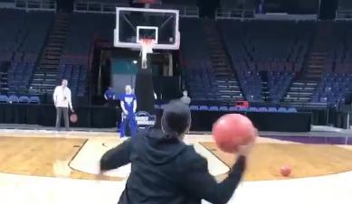 Watch: UB coach Felisha Legette-Jack hits half-court shot