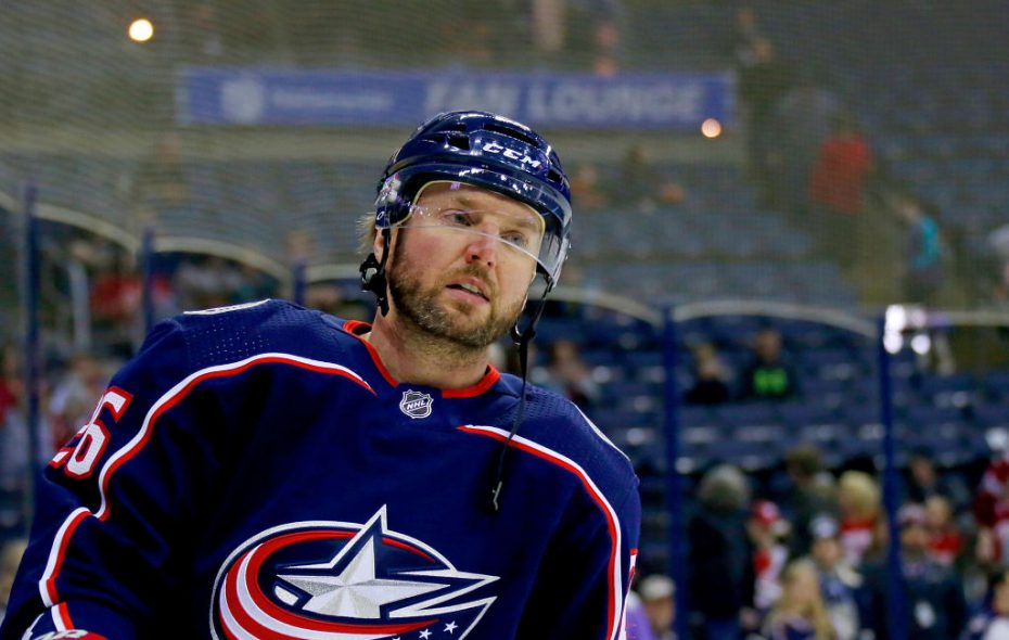 Thomas Vanek, drafted No. 5 overall by the Sabres in 2003, collected his latest hat trick last week for Columbus (Getty Images).