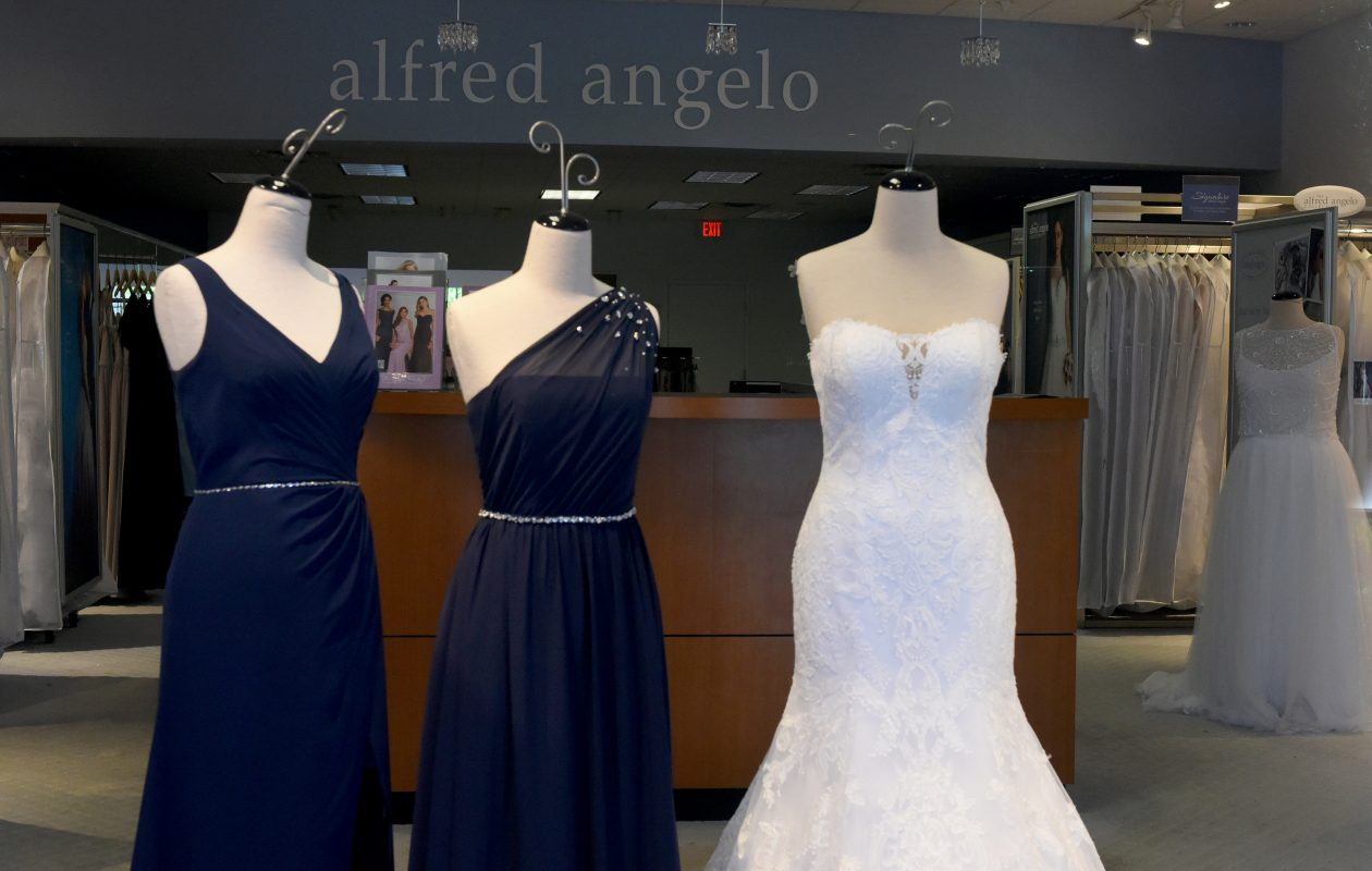 Alfred Angelo Bridal stores, like this one in Florida, closed when the company filed to liquidate its operations. (Taimy Alvarez/Sun Sentinel/TNS)