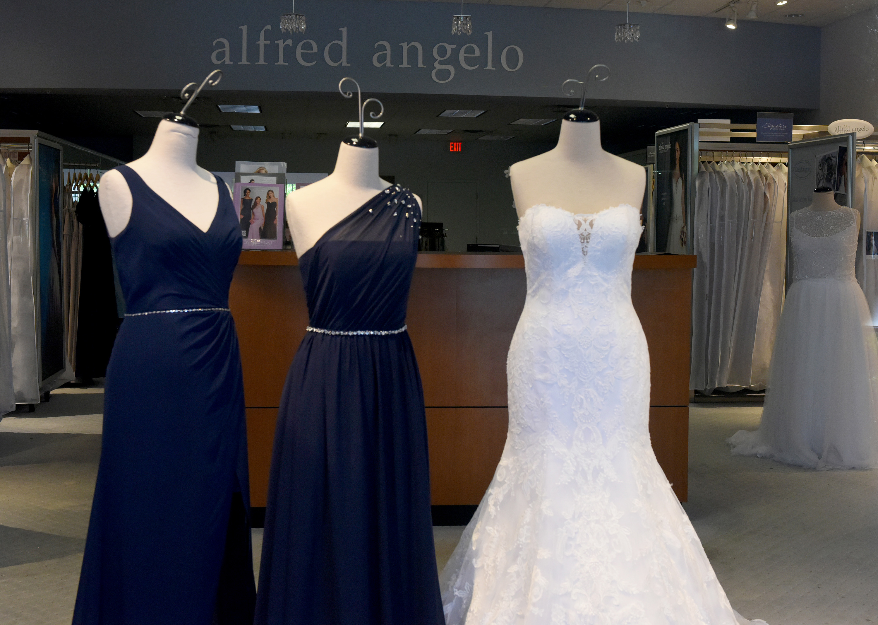 Abandoned gowns for sale for 60 to 75 percent off at Alfred Angelo