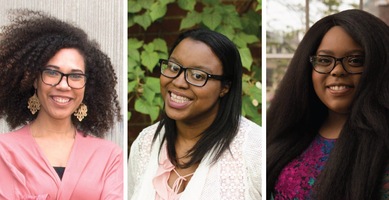 Julia Bottoms Douglas, left, will appear with Keah Brown and Chanel Thervil in the Albright-Knox Art Gallery on March 15.