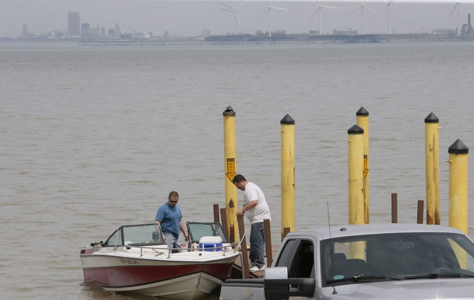Fishermen prepare to head out into Lake Erie at the Hamburg Town Park.   (Derek Gee/News file photo)