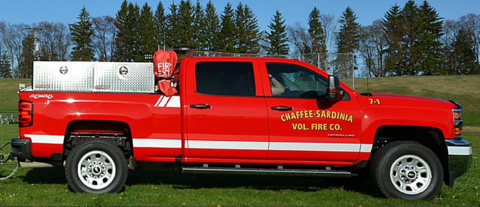 A Chaffee-Sardinia Volunteer Fire Company vehicle (provided by Chaffee-Sardinia Volunteer Fire Company)