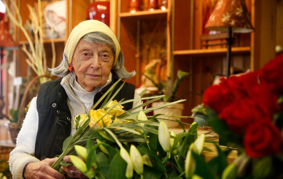 Fann Markel in her flower shop, the Floristry, in 2015.  (John Hickey/Buffalo News)