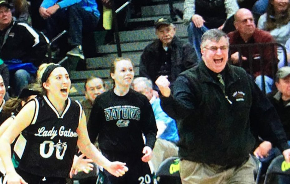 Frank Martin coached Allegany-Limestone to a 23-2 mark this past season and 302 wins during his longtime coaching career. (Allegany/Limestone Twitter account photo)