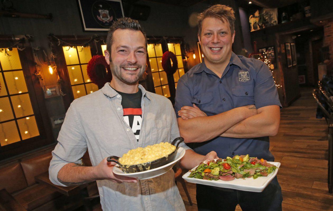 Colter Bay managing partner and chef Tony Martina, right, with bar manager Frank Pusateri. (Robert Kirkham/Buffalo News)