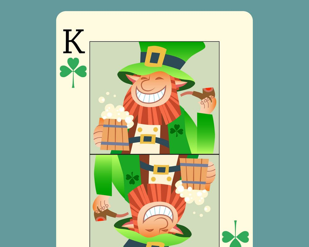 Leprechaun King by VectorStock