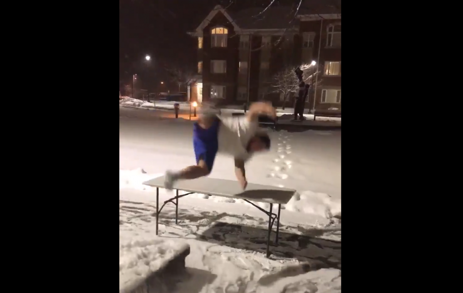 That poor table. (Via Twitter/The518Buffalo)