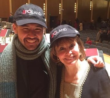 BPO Music Director JoAnn Falletta and pianist Conrad Tao, who is joining the BPO on its tour of Poland, model the official cap made for the occasion by New Era Cap. Photos courtesy of the Buffalo Philharmonic Orchestra.