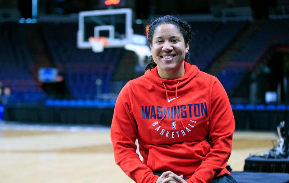 ESPN analyst Kara Lawson has some deep Buffalo roots. (Harry Scull Jr./Buffalo News)