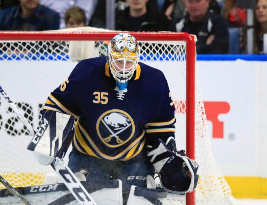 Once he's off Cloud Nine, Linus Ullmark will return to the Sabres' net. (Harry Scull Jr./News file photo)