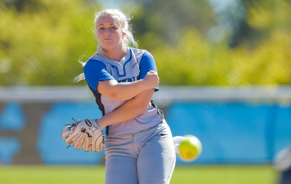 Ally Power, a Colorado native, threw her first no-hitter against Eastern Michigan on Friday. (Photo courtesy of UB athletics)