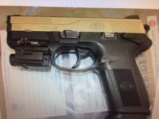 Erie County Sheriff's deputies seized this gun during a raid Monday in a Towne Gardens apartment, officials said. (Provided by Erie County Sheriff's Office)