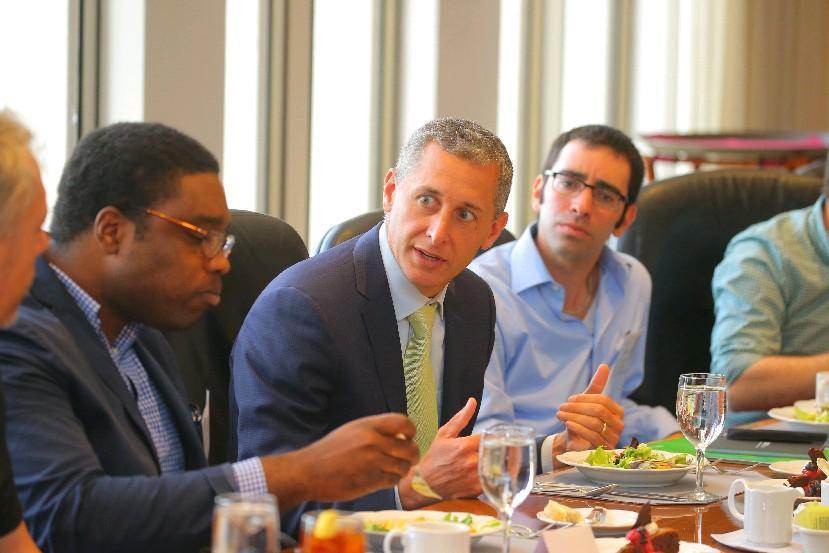 M&T Bank CEO Rene Jones, shown at a 2016 lunch with 43North winners, said the bank will follow in Wilmers' tradition. (News file photo)