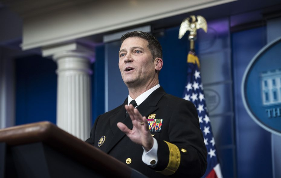 President Trump announced that he would nominate Rear Adm. Ronny Jackson, his personal physician, to replace David Shulkin as Veterans Affairs secretary.  (Washington Post photo by Jabin Botsford)