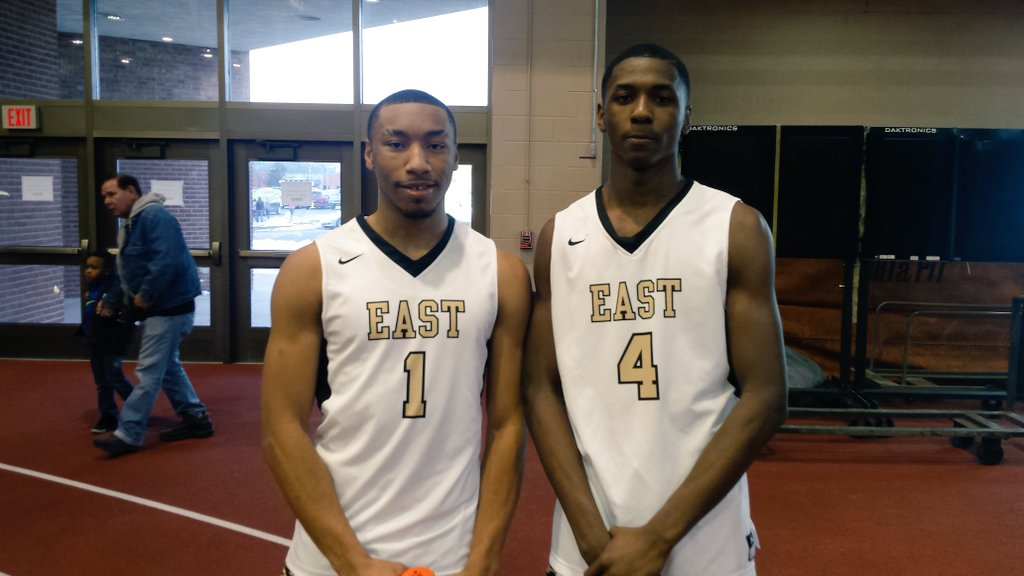 Willard Anderson and Justin Allen combined for 54 of East's 72 points during the Panthers' Class D Far West Regional triumph over Clyde Savannah on Saturday. (Miguel Rodriguez)