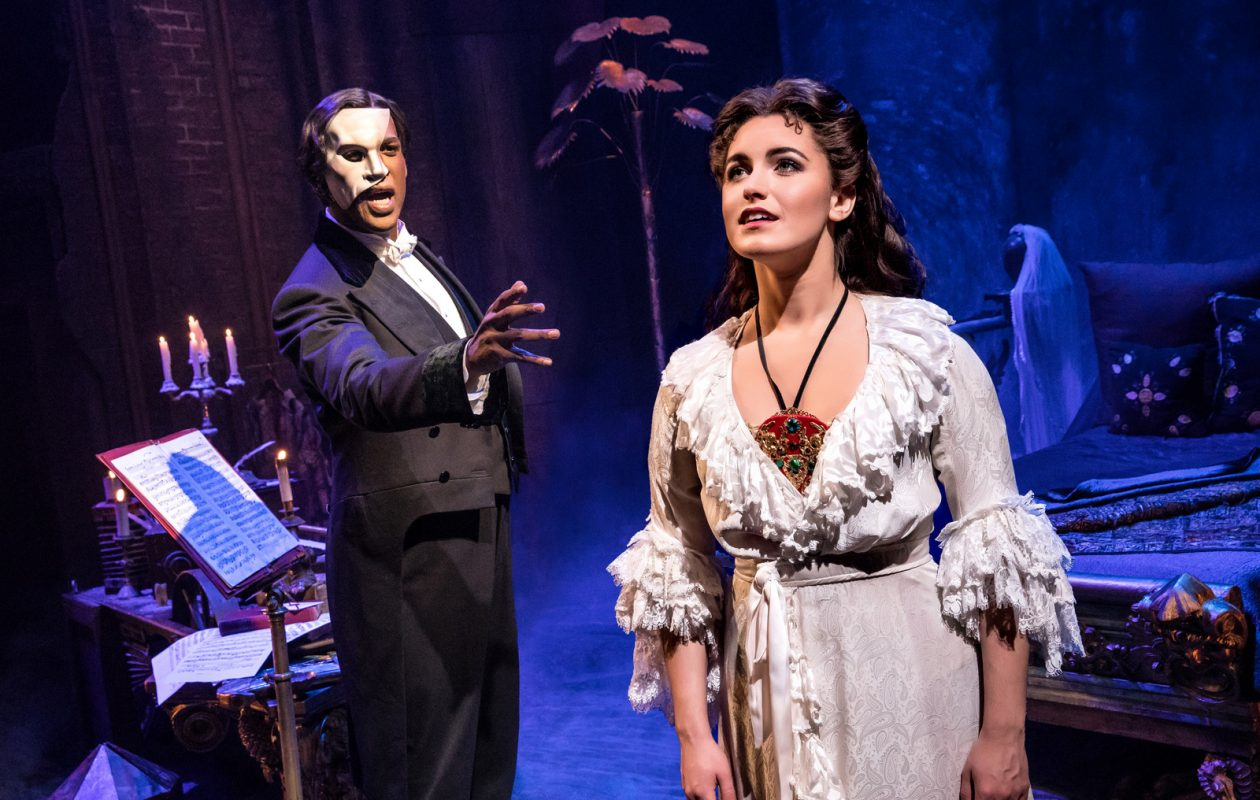 Quentin Oliver Lee is the Phantom and Eva Tavares is Christine in a touring production of 'The Phantom of the Opera' at Shea's.