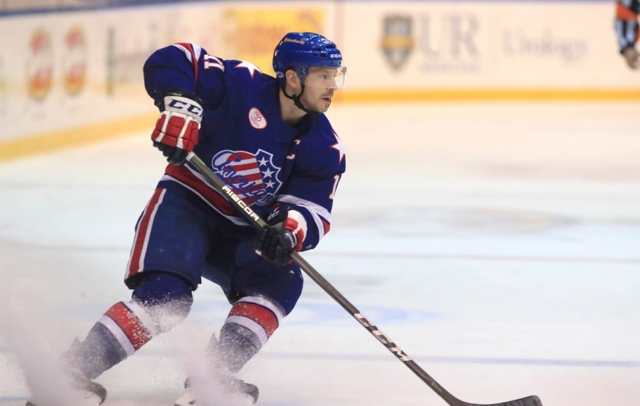 Rochester captain Kevin Porter still feels good about the Amerks' chances. (Harry Scull Jr./Buffalo News)