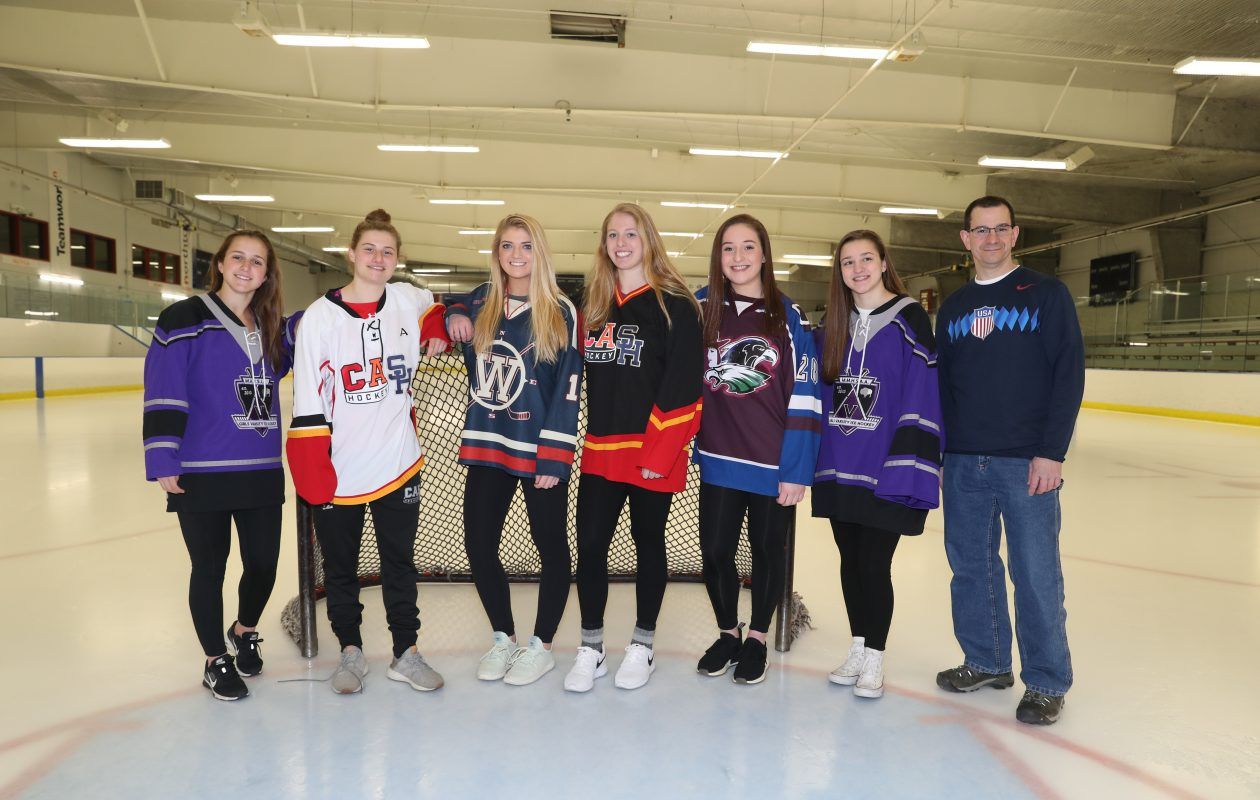 2017-18 All-Federation Team. Kayla Blas (Monsignor Martin), Emma Faso (Clarence/Amherst/Sweet Home), Holly Schmelzer (Williamsville), Casey Adimey (Clarence/Amherst/Sweet Home), Brooke Becker (Frontier/Lake Shore/Orchard Park), Grace Harrington (Monsignor Martin). Coach of the Year: Dave Santoro (Lancaster/Iroquois/Depew). (James P. McCoy / Buffalo News)