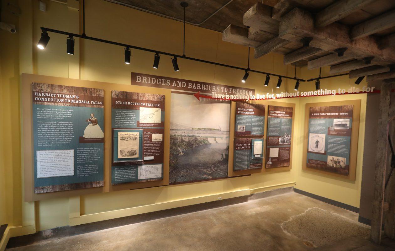A display at the new Niagara Falls Underground Railroad Heritage Center. (John Hickey/Buffalo News)