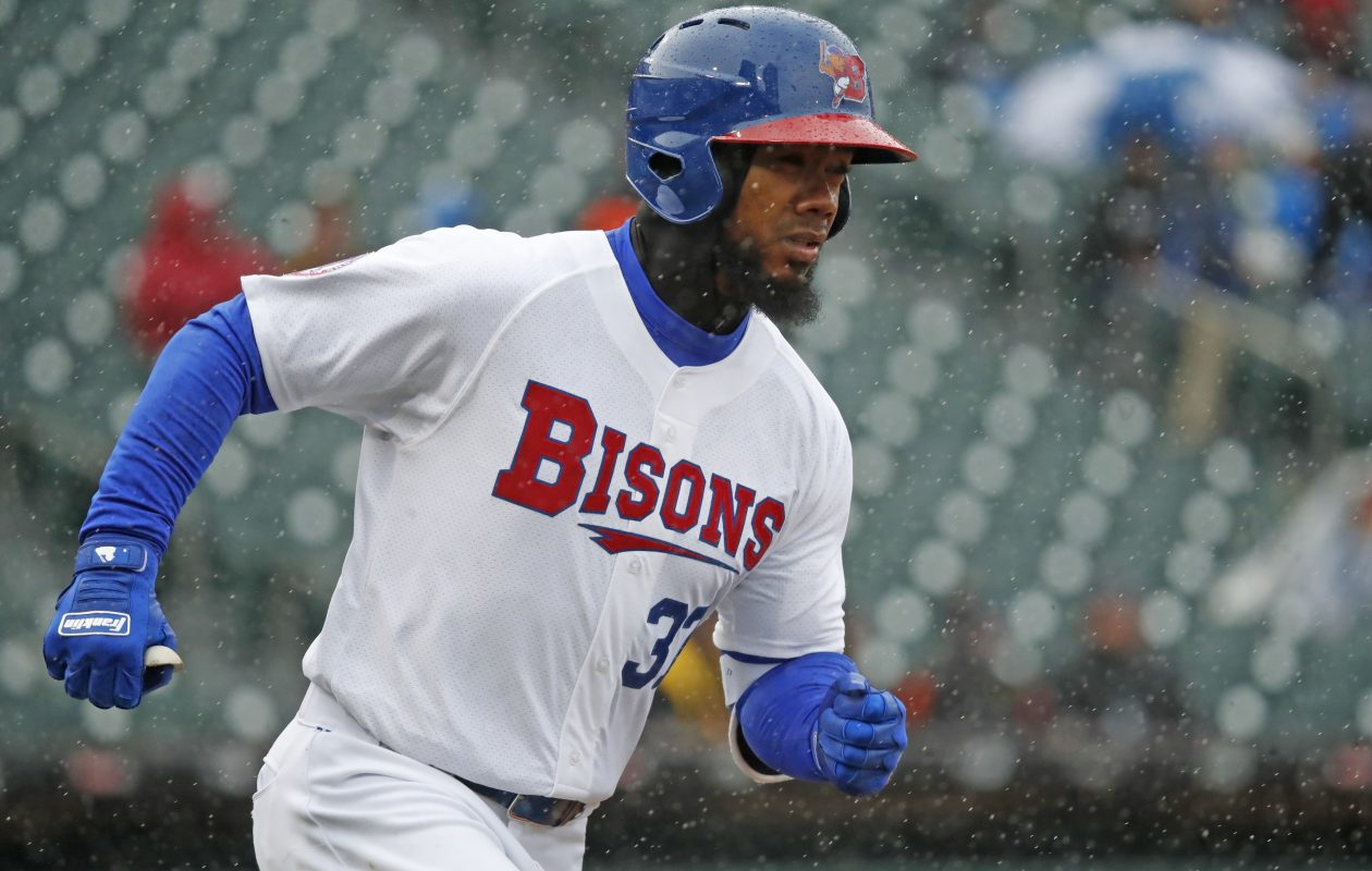 Teoscar Hernandez was called up by the Toronto Blue Jays on Friday. (Harry Scull Jr./ Buffalo News File Photo)