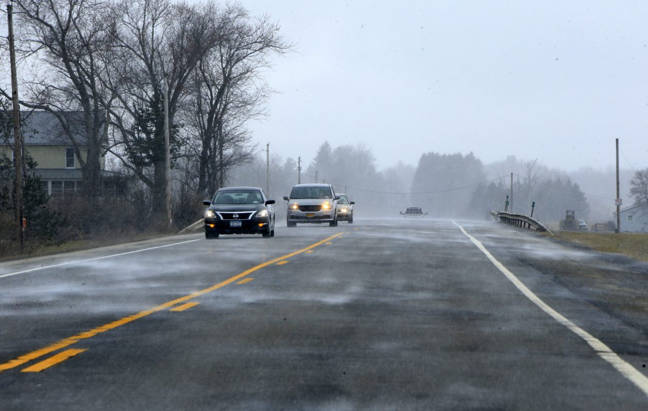 After an unseasonably warm Sunday, snow returns to the forecast later today, forecasts show. (Buffalo News file photo)