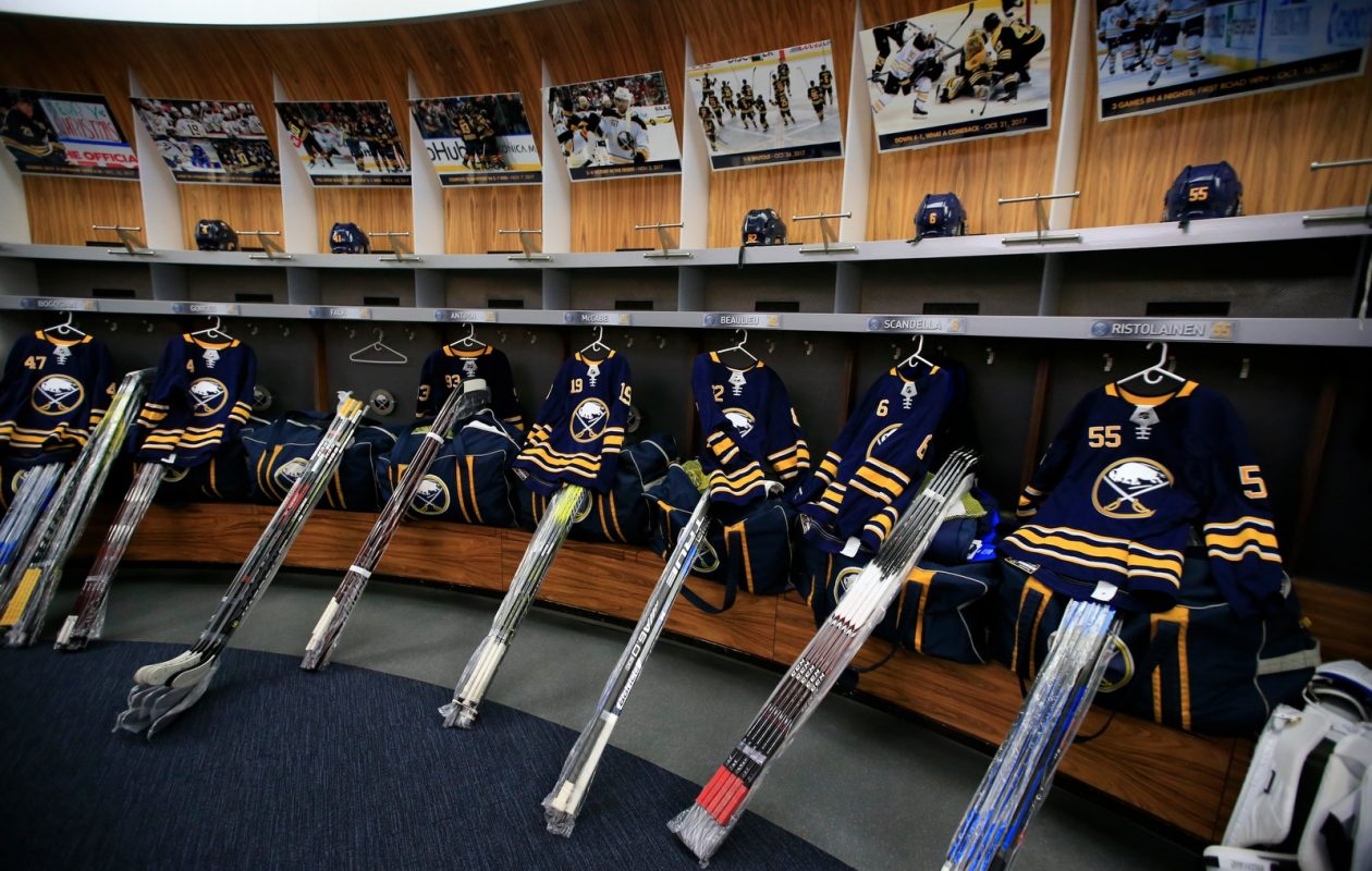 The Sabres' dressing room needs new faces and improved attitudes next season. (Harry Scull Jr./Buffalo News)