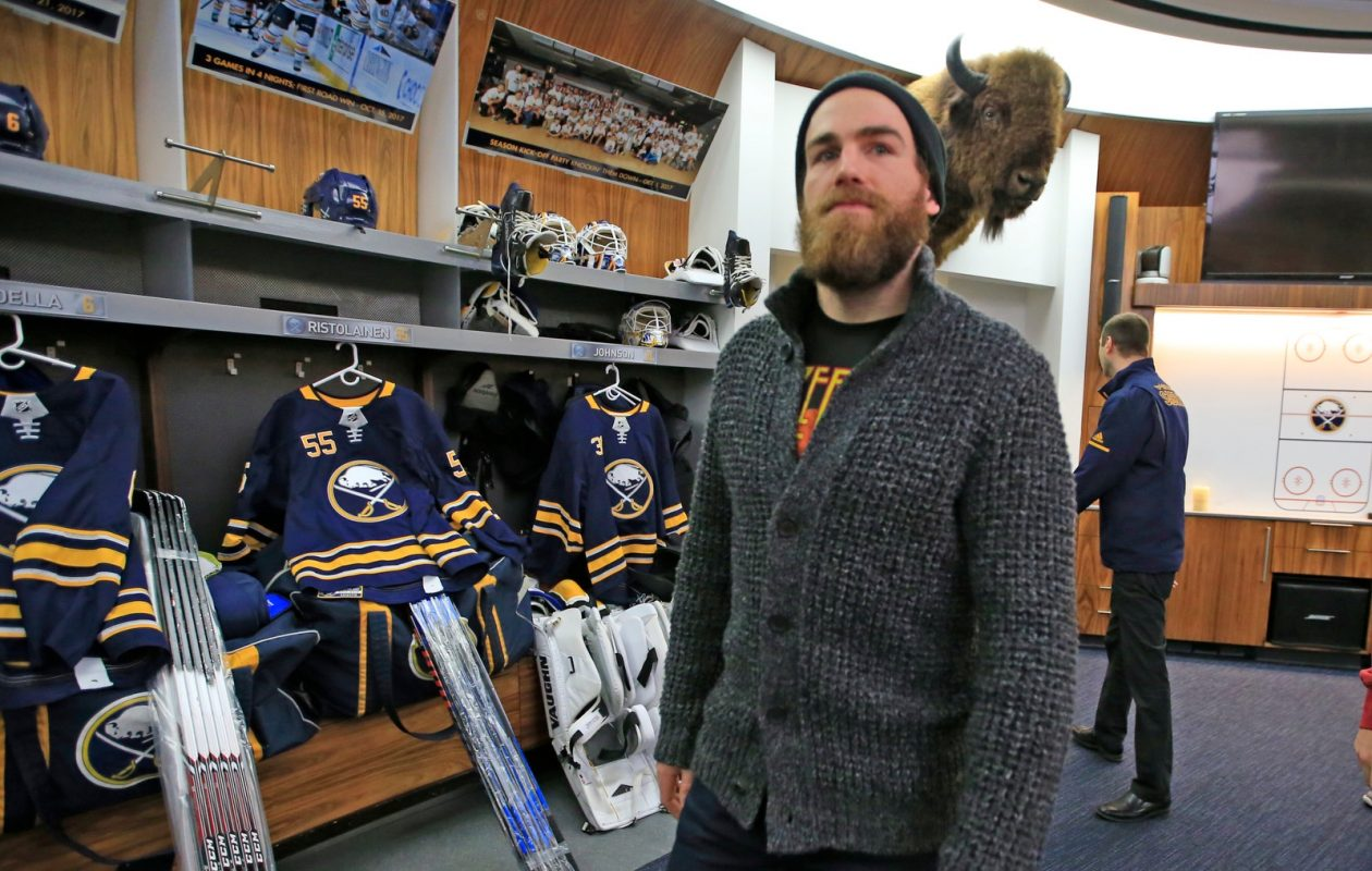After cleaning out his Sabres locker in April for the final time, Ryan O'Reilly has a new start in St. Louis. (Harry Scull Jr./News file photo)