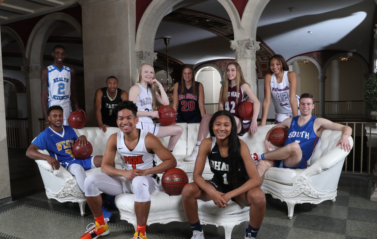 The 2018 All-Western New York first team photographed at Statler City. (James P. McCoy/Buffalo News)