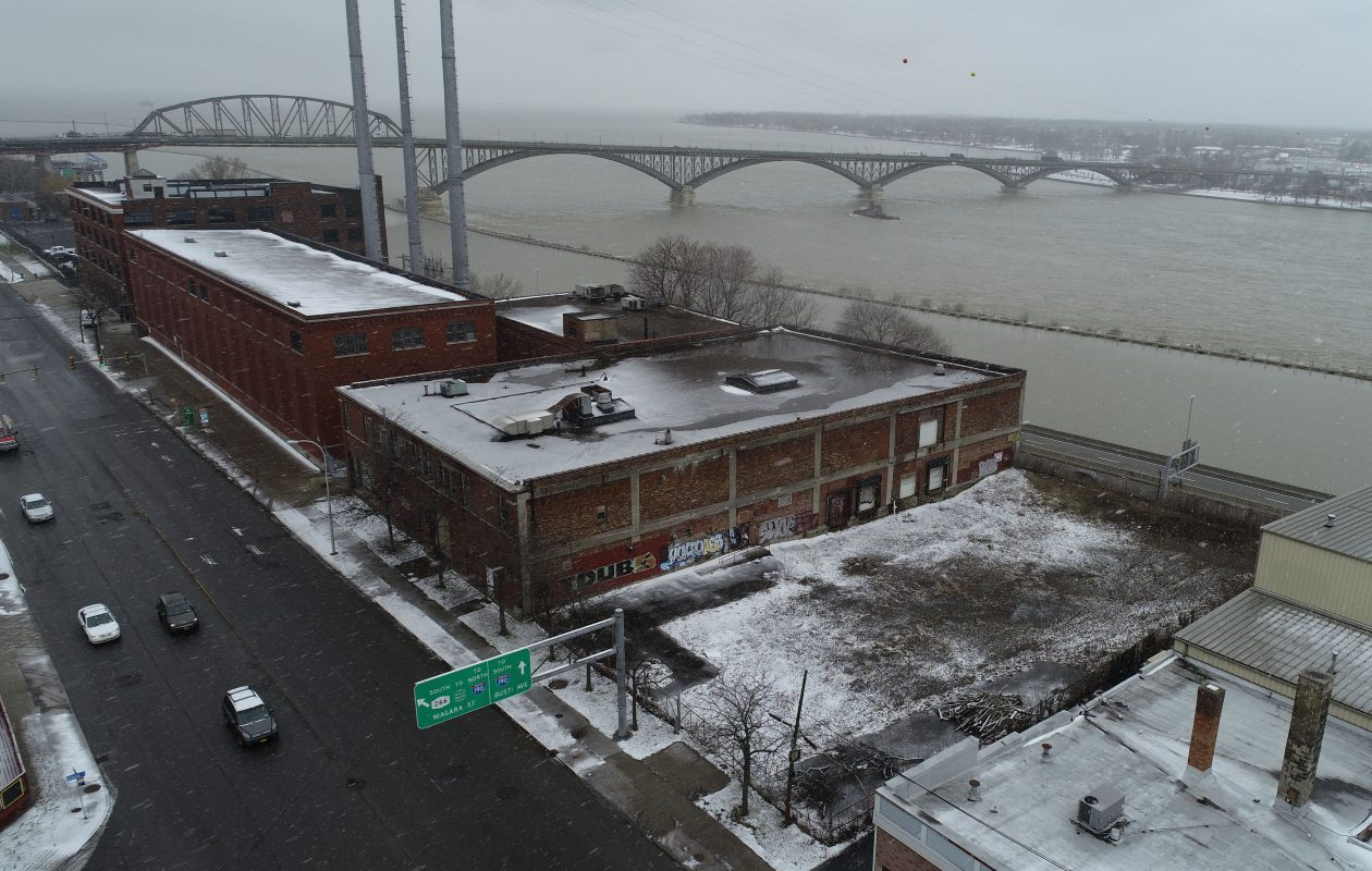 Two developers want to build a 10-story residential building at 990 Niagara St. overlooking the Niagara River.  (Derek Gee/Buffalo News)