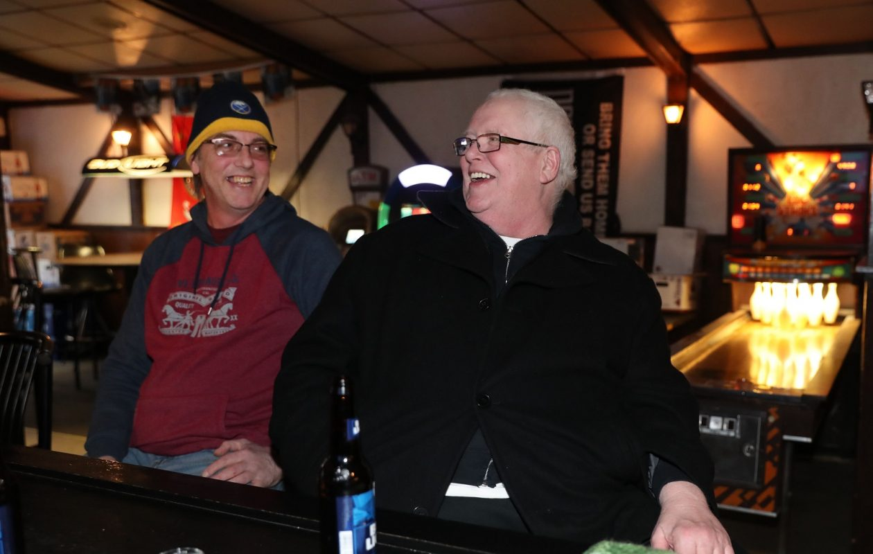 From left in Pyramid Lounge are Jeff Swanson and Ted Ritchie of Hamburg. (Sharon Cantillon/Buffalo News)