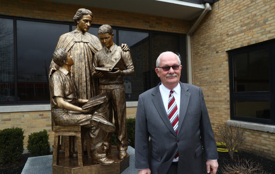 Bob Scott, teacher-turned-principal-turned-school president, is retiring after 47 years, a Cheektowaga guy who became top official and spiritual heart of St. Joseph's Collegiate Institute, in the Town of Tonawanda. (John Hickey/Buffalo News)