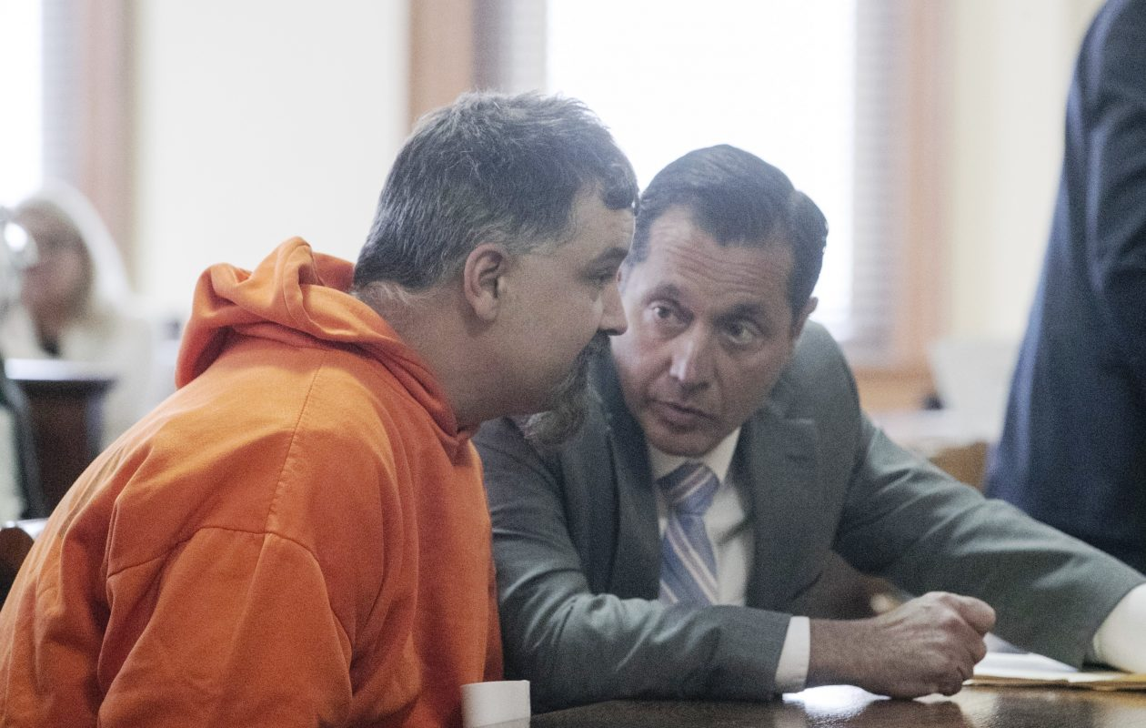 Joseph Belstadt, 43, of Tonawanda, pleaded not guilty on Wednesday, April 25, 2018 to second-degree murder in connection with the 1993 slaying of Mandy Steingasser, 17, his classmate at North Tonawanda High School.  (John Hickey/Buffalo News)