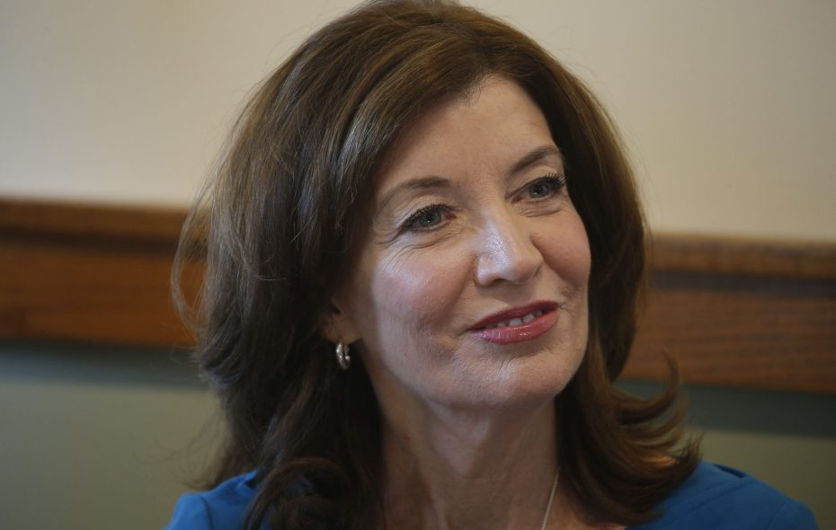Lt. Gov. Kathy Hochul spoke at the at the WNY Women's Foundation All-In Gender Equity Initiative gathering at the Theodore Roosevelt Inaugural Site in Buffalo this week.  (Robert Kirkham/Buffalo News)