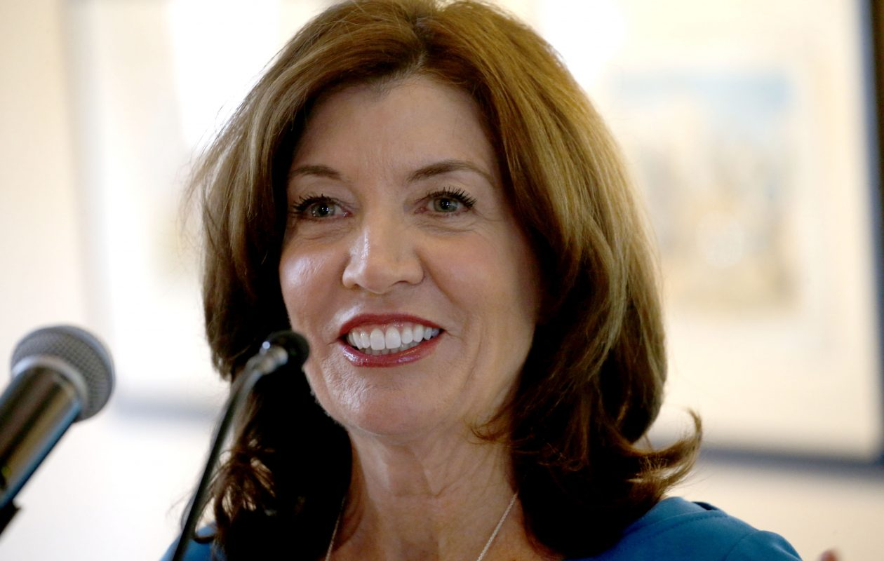 Lt. Gov. Kathy Hochul announced a $10 million downtown revitalization grant for the City of Lockport in Cornerstone Arena on Wednesday, Oct. 3, 2018. (News file photo)