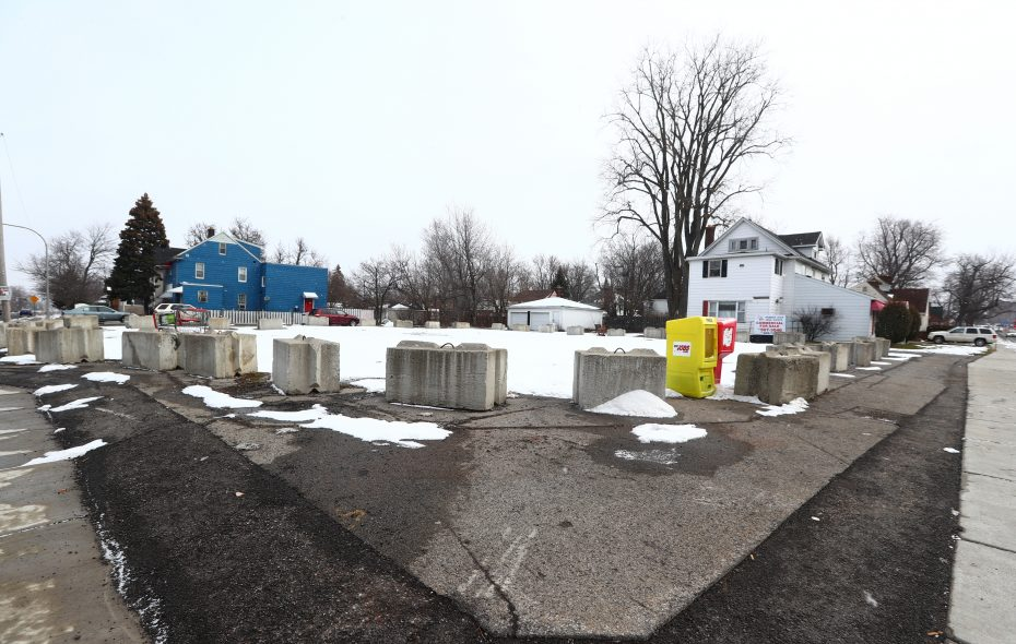 The contested parcel of land at 159 Niagara Falls Blvd. in Amherst. (John Hickey/News file photo)