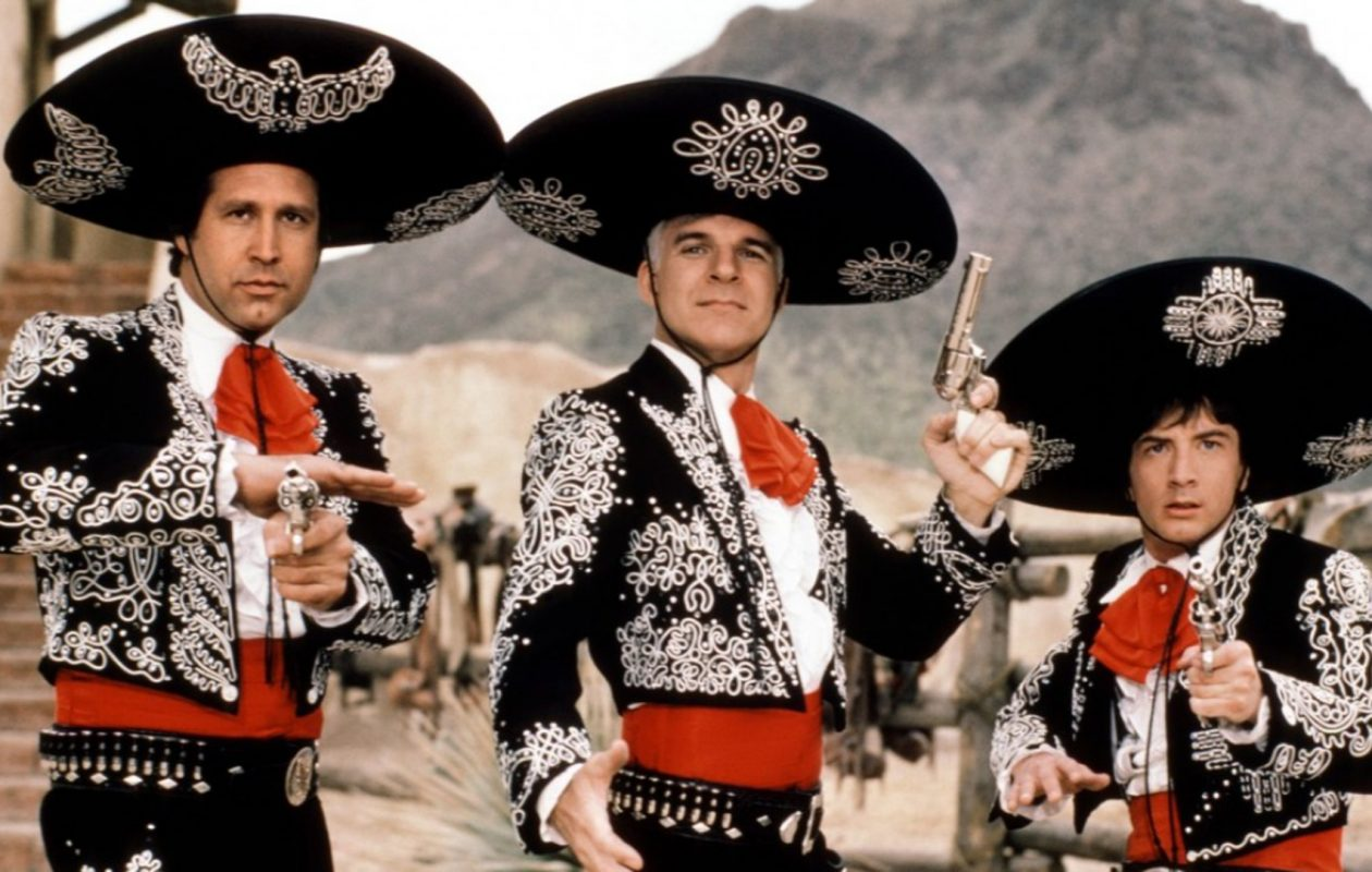 The comedy Three Amigos' is one of the collaborations between Steve Martin and Martin Short, who will appear together in Shea's Performing Arts Center. Pictured, from left, are Chevy Chase, Steve Martin and Martin Short.