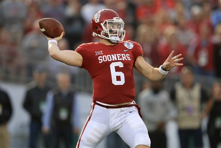 Top overall pick Baker Mayfield could be the key to long-term improvement by the Browns, (Getty Images)