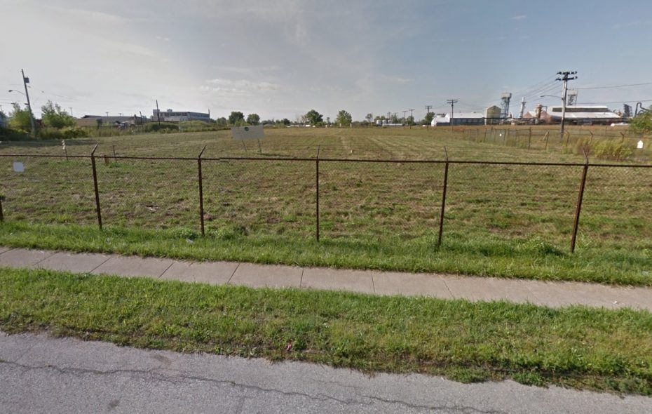 This site on Elk Street will become home to a new Medaille College sports facility with an outdoor  field, under a proposal by developer Jon Williams. (Google Images)