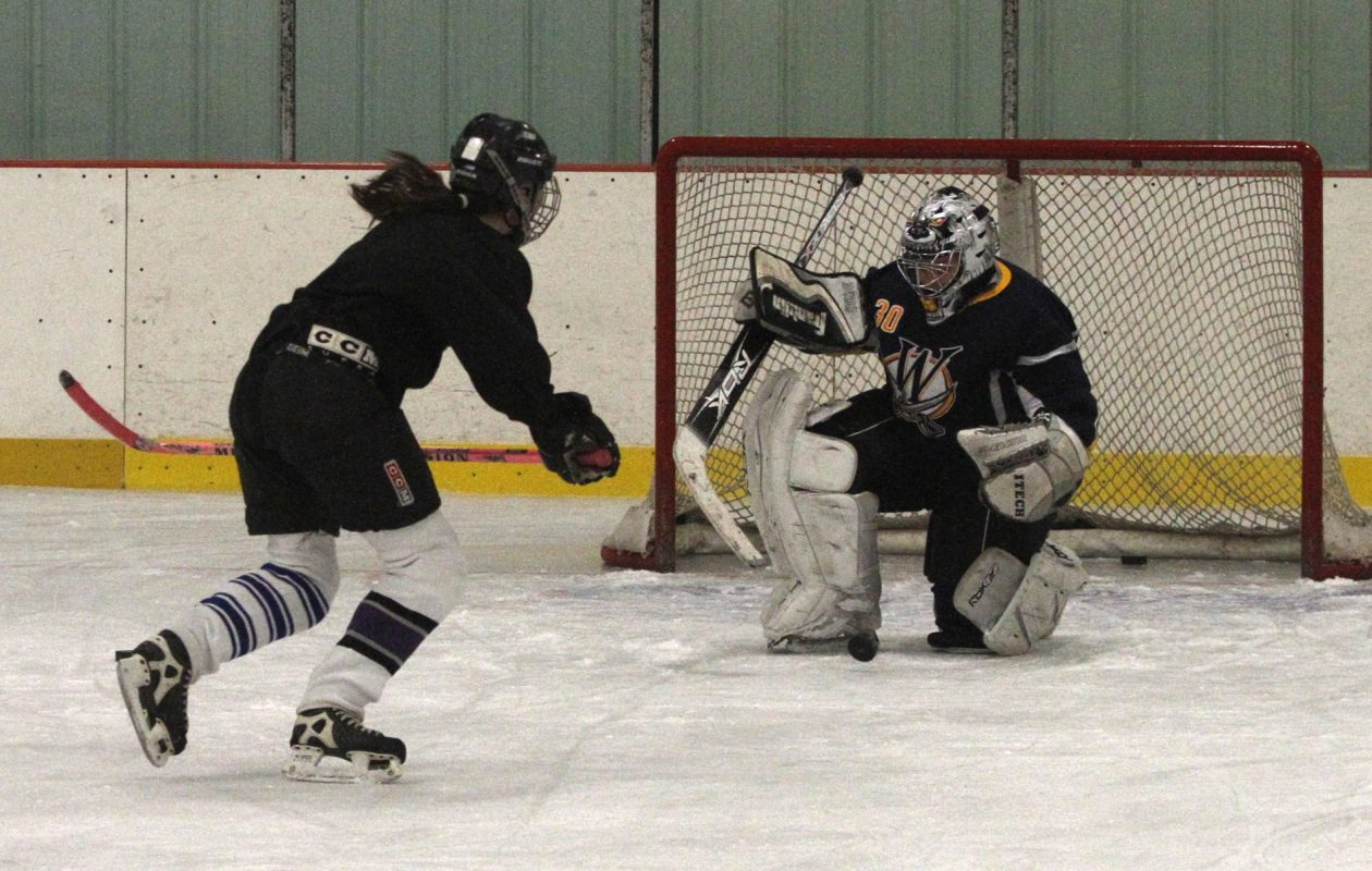 A girls hockey team practices at Brighton Arena in Tonawanda in 2010. (John Hickey/News file photo)